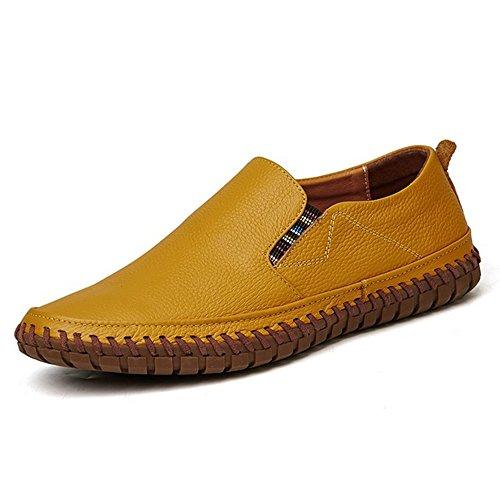 AARDIMI Mocasines Pantuflas Caucho de y Hombre amarillo TZ8Hx8fqw