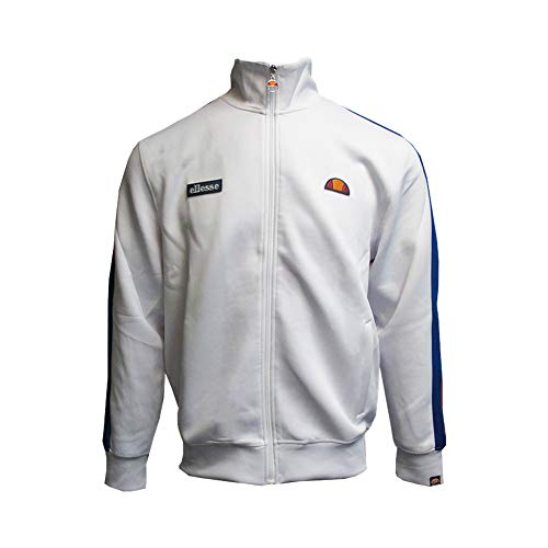 ellesse Men's Jet Track Jacket, White, M