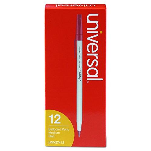 - Universal Economy Ballpoint Stick Oil-Based Pen, Red Ink, Medium, Dozen (27412)