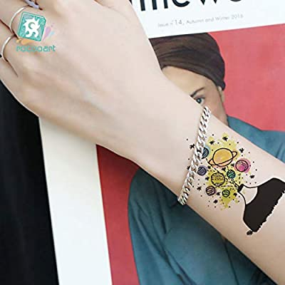 HXMAN 3 Unids Desechable Tatuaje Pegatina Impermeable Color Anime ...