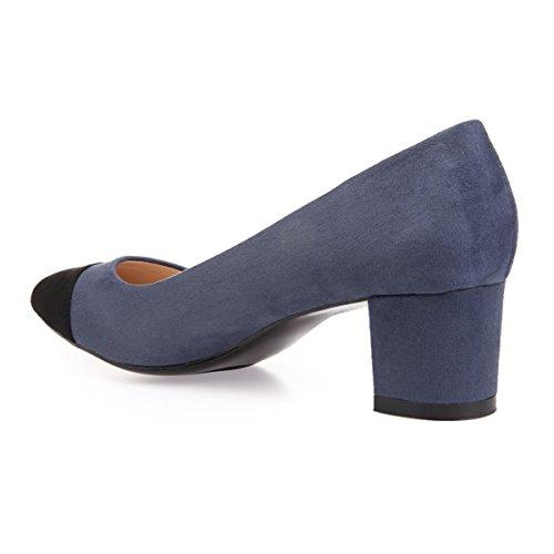 Azul De 45203 Mujer Modeuse Sintético Vestir Zapatos La Material 8ZHqO7wn