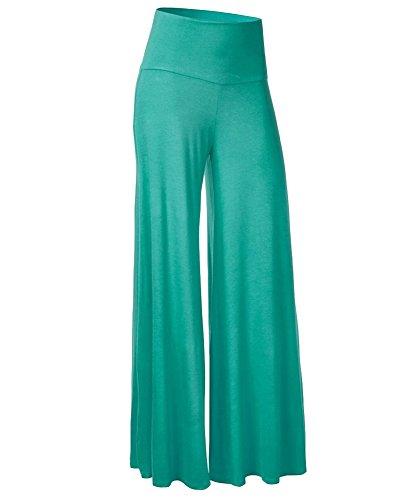 Casual Fresca Pantalones Pantalón De Las Mujeres De Pernera Ancha Para Yoga Verde