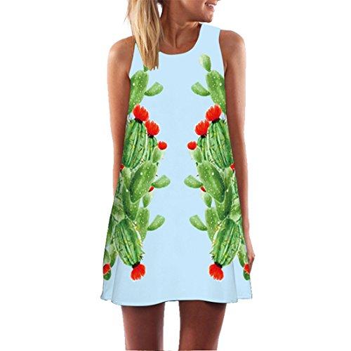 214 Robe De Mini Plage Courte Crayon Manche Cactus Jupe Tunique Jupon Soirée Sans Femme Yichun Fille XiuTZPOk