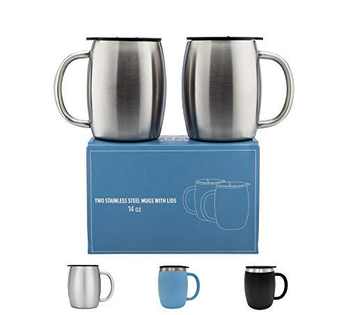 Outdoor Tablewares Radient Double Stainless Steel Cover Water Mug Camping Cup Mug Drinking Coffee Cup Beer Tea Mug Holiday Picnic Fishing Outdoor Tableware Sports & Entertainment