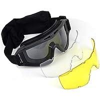 Residen Militaría Goggle Chopper Lente Tipo Táctico Militar Motociclismo Micas Intercambiables