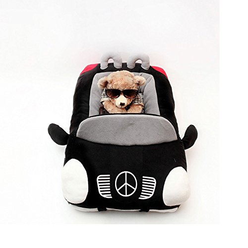 Kojima Design-new Deluxe Cute Cozy Black Car Pet Beds Cover for Small-medium Dog 27.6