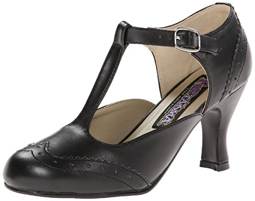 Flapper Jane (Funtasma Women's Flapper-26 Slide Pump, Black Polyurethane, 9 M US)