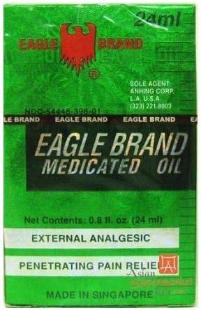 EAGLE BRAND MEDICATED OIL External Analgesic (Penetrating Pain Relief) 24ML (O.8 OZ) x3pk