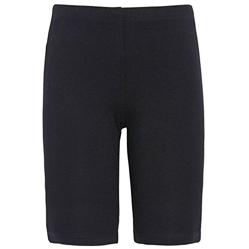 (Lipstik Little Girls Black Solid Color Soft Stretchy Casual Shorts)