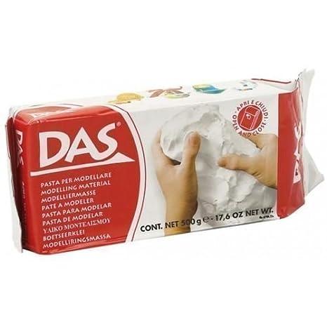 DAS - Arcilla Pasta para Modelar Secado al Aire Blanco 500g ...
