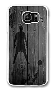 Samsung Galaxy S6 Case, Hard Crystal Clear Transparent Plastic Bumper Case for Samsung Galaxy S6 with Back Photo Wood Soccer