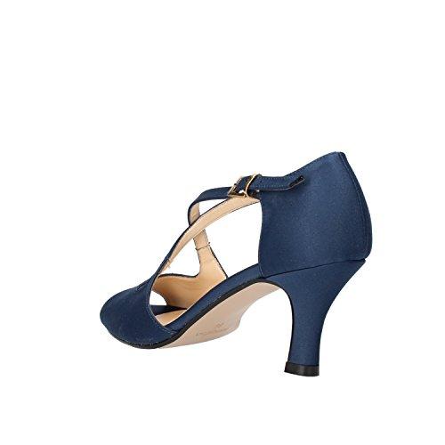 OLGA RIBINI Sandalias mujer beige / negro / Azul satén Azul