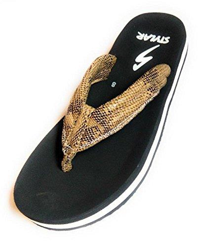 Buy BAU JEE SHOE Black Slippers Size 8