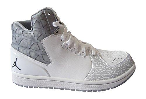 Nike Herren Jordan 1 Flight 3 Turnschuhe, Schwarz, 44.5 EU Weiß / Schwarz / Grau (Weiß / Schwarz-Wolf Grau)