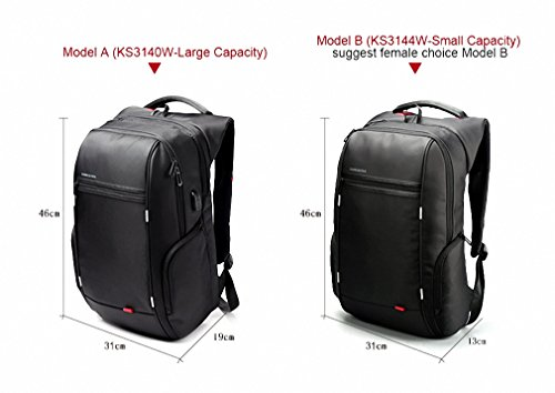 3a0cd8d8d9a5 kingsons External USB Charge Computer Bag Anti-theft Notebook Backpack 13  15 17 inch Waterproof