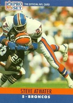 Steve Atwater Football Card (Denver Broncos) 1990 Pro Set #86