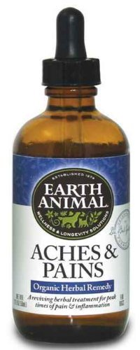 Earth Animal Aches and Discomfort, 2 Ounces, Herbal Remedy for Pain and Inflammation in Dogs and Cats by Earth Animal