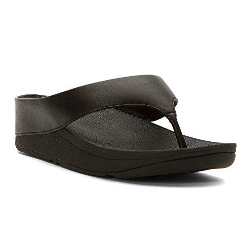 FitFlop Ringer Toe Post - Urban White/Beige Sole Completamente negro