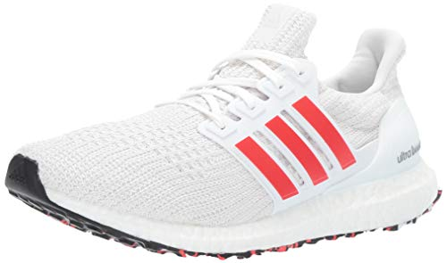 (adidas Men's Ultraboost, Active red/Chalk White, 9 M US)
