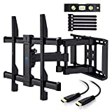 "TV Wall Mount Full Motion Swivel Dual Articulating Arm for Most 37"" -70"" LED, LCD, OLED, Plasma TVs up to VESA 600x400mm, 132lbs by PERLESMITH"