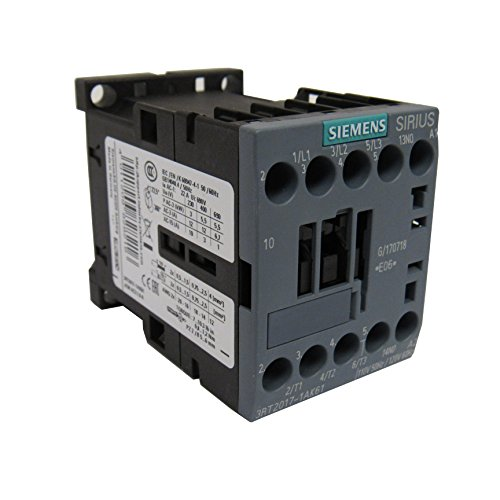 SIEMENS 3RT2017-1AK61 SIRIUS 3 POLE 12 AMP 120 VOLT AC CONTACTOR, 1 N.O. AUXILIARY CONTACT