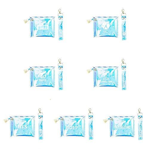 Bts1 Cosmétique Fois EXO Porte Monnaie Transparent Coloré BTS One Deux Bestomrogh Blackpink Fourre Blackpink Wanna GOT7 Sac Tout Laser Kpop nAHqWWf