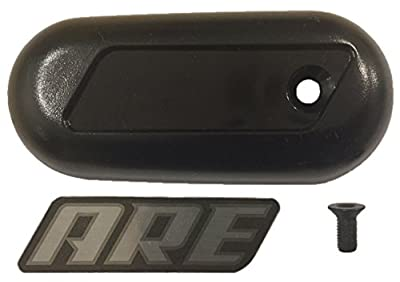 Truck Upfitters' ARE Replacement Palm Handle for LSII and LSX Tonneau Lid X Series and Z Series Camper Shell Bed Cover with Screw and ARE Decal. Molded Plastic Version Only.