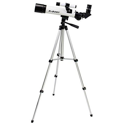 SVBONY Telescopes 420x60mm Refractor Astronomy Telescope Travel Scope Entry Level for Kids Beginners to Gaze Moon and Stars with Aluminum Tripod SVBONY