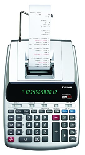 Canon MP25DV-3 Desktop Printing Calculator with Currency Conversion, Clock & Calendar