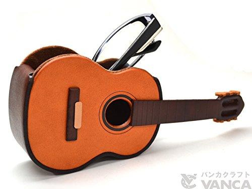 Guitar Genuiine Leather Eyeglasses Holder/StandVANCA Handmade in - Designers Japanese Eyeglass