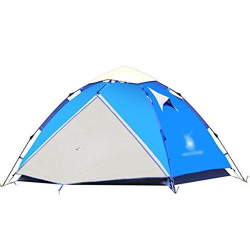店員不合格陰気マ?チョン テント 3-4人屋外テント油圧自動テント防水キャンプテント