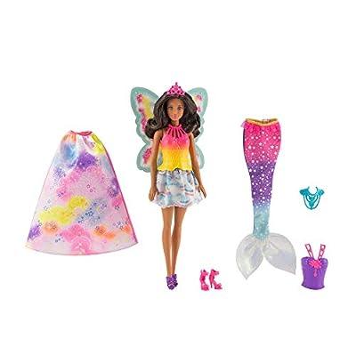 Barbie Dreamtopia Rainbow Cove Fairytale Dress Up Set, Black Hair: Toys & Games