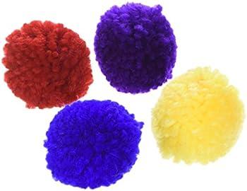 4-Pack Ethical Pet Wool Pom Poms CatNip