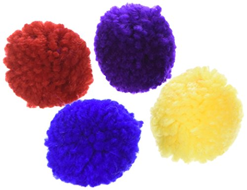 Ethical Wool Pom Poms with Catnip Cat Toy, 4-Pack ()