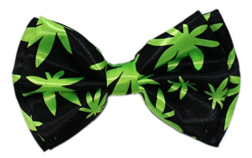 Bow Leaves - Ted and Jack - Show Your Style Novelty Themed Bowtie in Pot Leaves