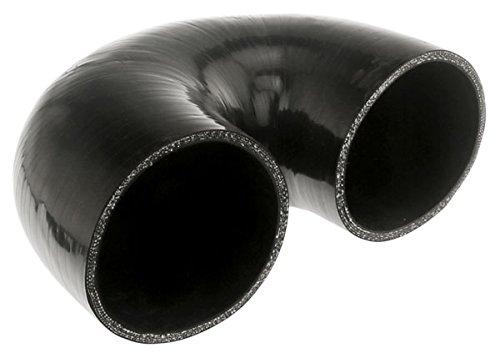 Pegasus E180.102-BLACK, Black Silicone Hose, 4.00