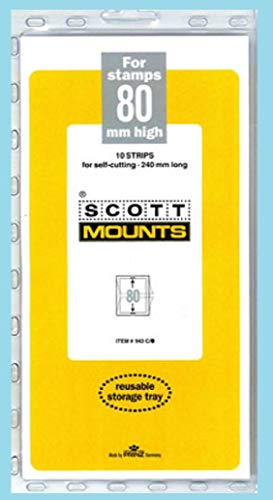 Scott or Prinz 80x240 Clear Stamp Mounts Scott # - Mounts Clear Stamp