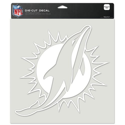 NFL Miami Dolphins Die-Cut Decal, 8