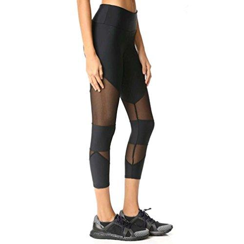 Women Skinny Leggings, Keepfit Patchwork Mesh Yoga Pants Fitness Sports Tights