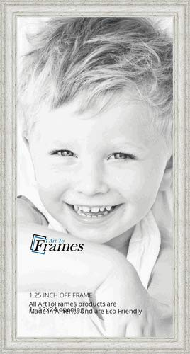 ArtToFrames 12x24 inch Off White Wash on Ash Wood Picture Frame WOM01515950447512x24