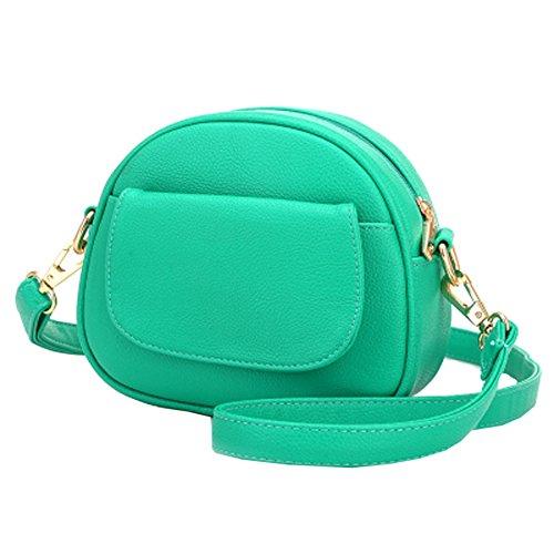 Mode Mini Soft Pu Sac à Bandoulière En Cuir Pour Les Femmes Lady Casual Tote Zipper Crossbody Sac à Main Multicolore Green