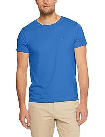 TOMMY HILFIGER Men's Essential Crew Neck T-Shirt, Blue Lolite, XXL
