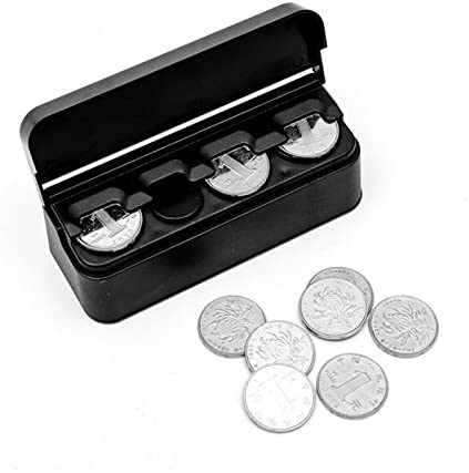 Voiture Boîte de rangement Coin Case Euro Monnaie plastique Conteneur Organisateur Rangement Boîte QK