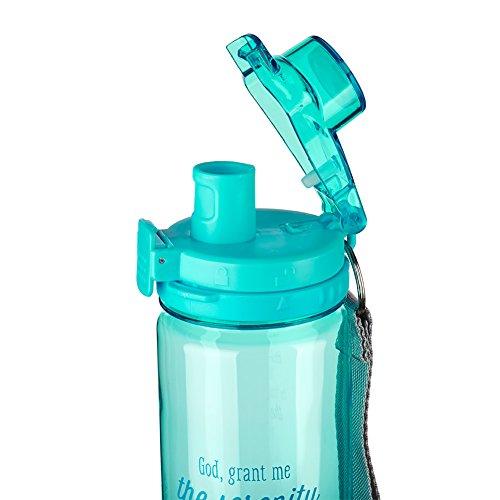 Serenity Prayer Aqua Plastic Water Bottle