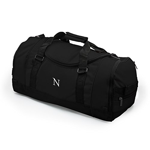 Personalized Deluxe Sports Duffle Black
