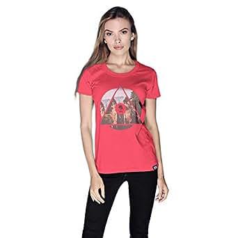 Creo China Mountain T-Shirt For Women - S, Pink