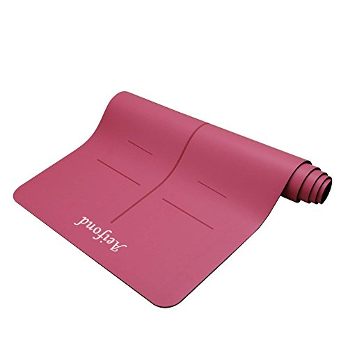 Aeifond Eco-friendly Yoga Mat, Recyclable Non-Slip and Durable Yoga Mat Thick High Density Padding...