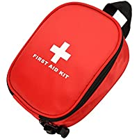 OutFans Red First Aid Kit/ First Aid Medical Kit Bag,Lightweight and Portable,with Full Basic First Aid Items,Perfect for Home/Office/Car /Outdoor Sports( Include One First Aid Guide Booklet)