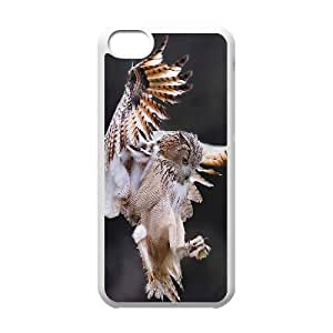 Qxhu Owl Hard Plastic Cover Case for Iphone 5C