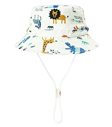 (Baby Hat Boys Girls Toddler Kids Play Sun Hats Bucket/Reversible Brim,Sun Protection Hat Drawstring Adjust Chin Strap (Aniaml, 19.7''(50cm)(1-2 Years)))